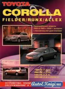 Toyota Corolla (Corolla/Fielder/Runx/Allex) с 2000 года выпуска.