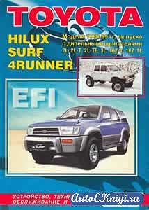 Toyota Hilux, Hilux Surf, 4Runner 1988-1999 годов выпуска. Устройство, техническое обслуживание и ремонт